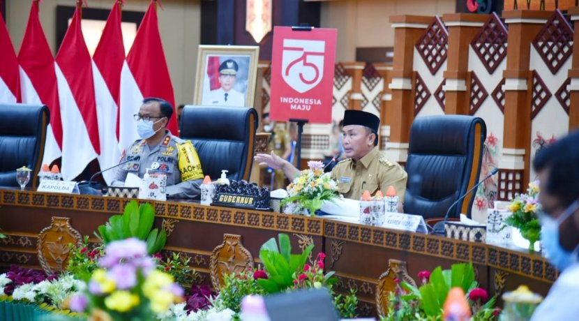 Gubernur Kalteng Pimpin Rakor Pencegahan dan Penanganan Karhutla Tahun 2021