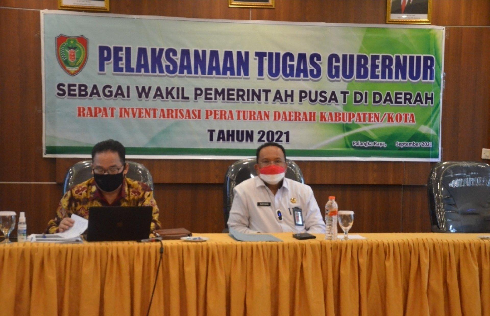 Pj. Sekda Kalteng Buka Rapat Inventarisasi Perda Kabupaten/Kota