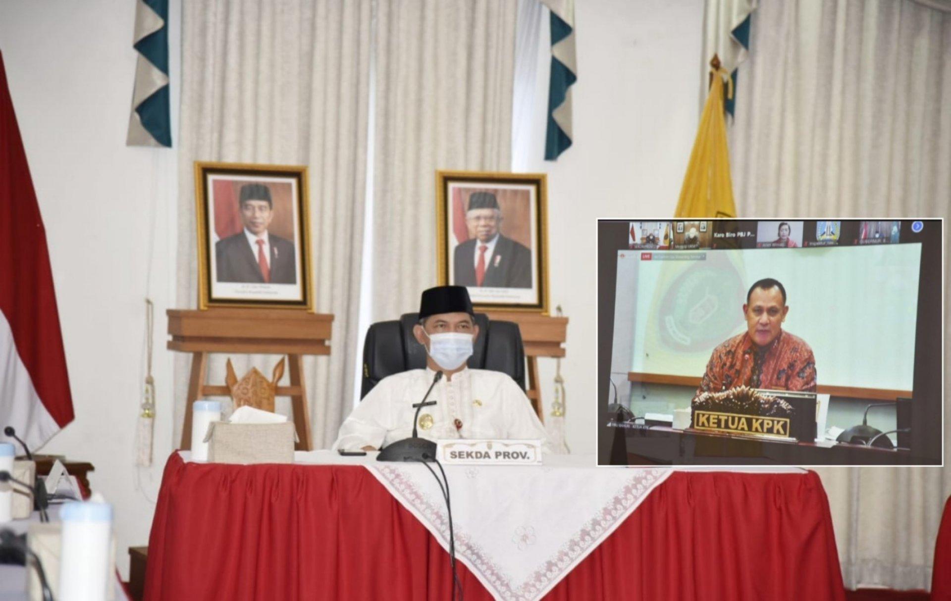 Sekda Kalteng Ikuti Rapat Koordinasi Bela Pengadaan Online Pemerintahan Daerah