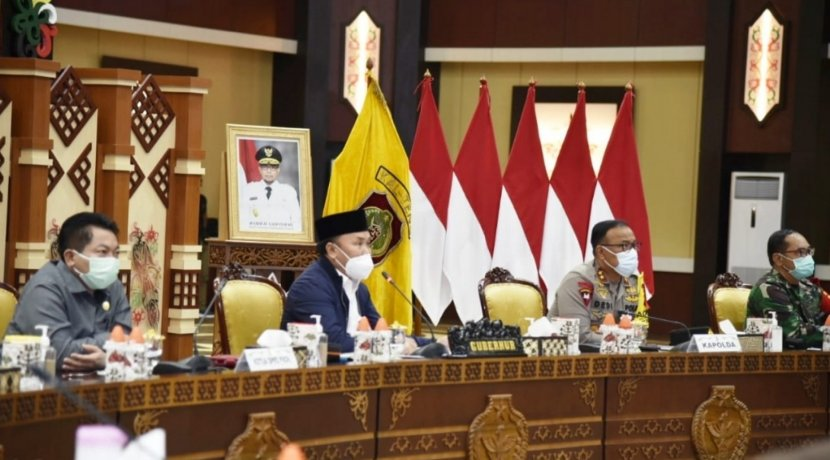 Tindaklanjuti Arahan Presiden, Gubernur Pimpin Rakor Virtual Evaluasi Penanganan COVID-19 dan Vaksinasi di Kalteng