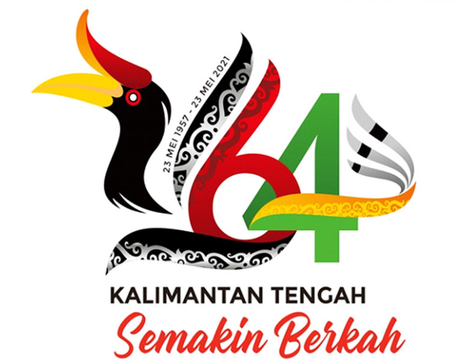 Logo dan Tema Peringatan Hari Jadi ke-64 Provinsi Kalimantan Tengah Tahun 2021