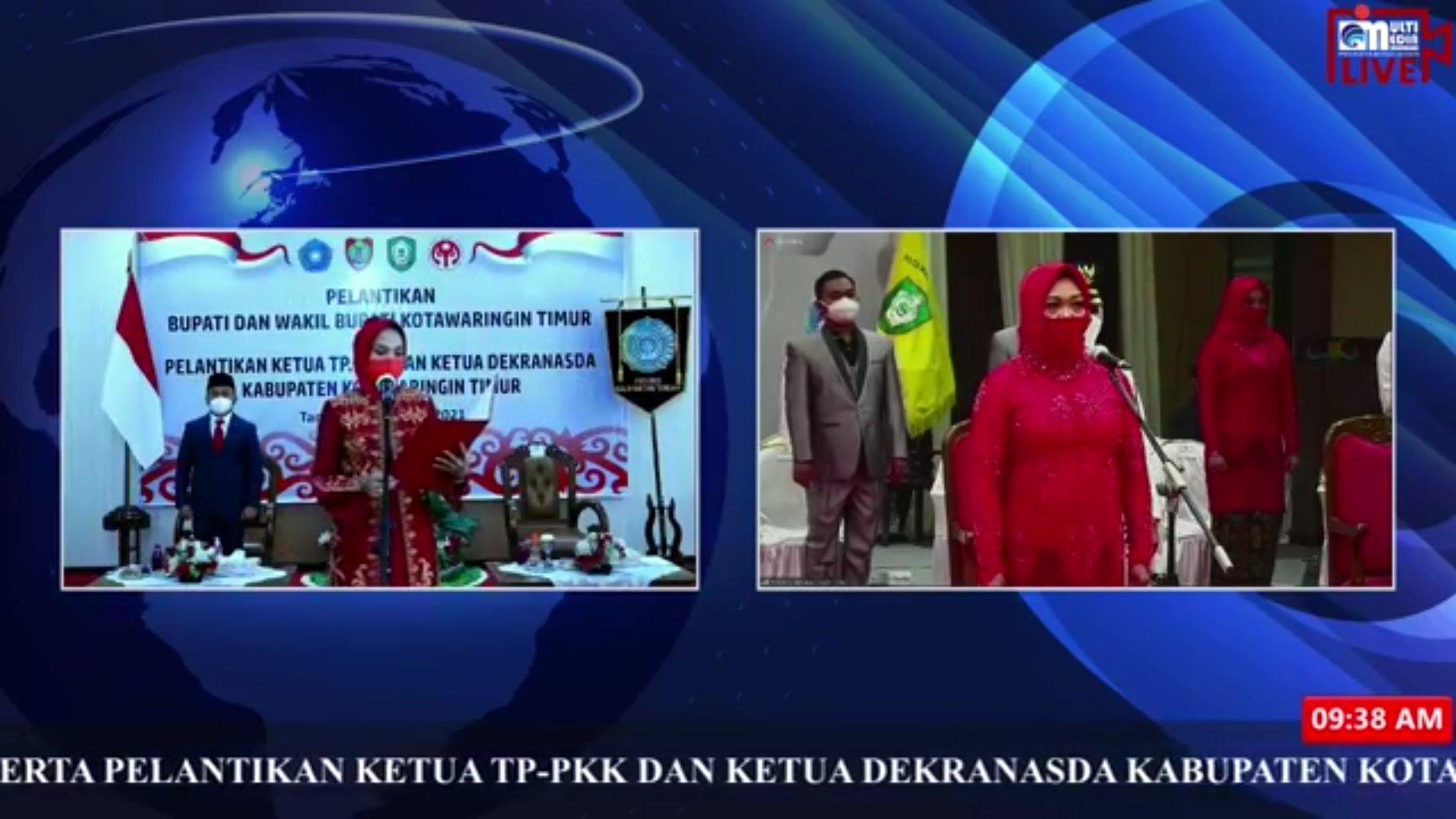 Ivo Sugianto Sabran Lantik Ketua TP PKK dan Dekranasda Kabupaten Kotawaringin Timur
