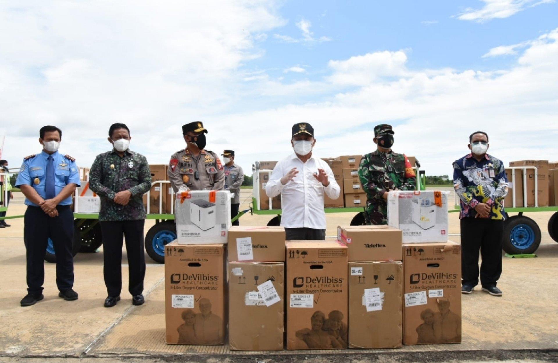 Pemprov Kalteng Terima Bantuan Ratusan Oxygen Concentrator dari Presiden