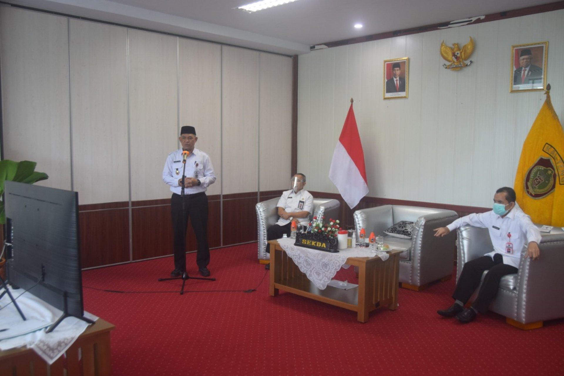 Sekda Hadiri Konsultasi Publik Rancangan Awal RKPD Kalteng Tahun 2022