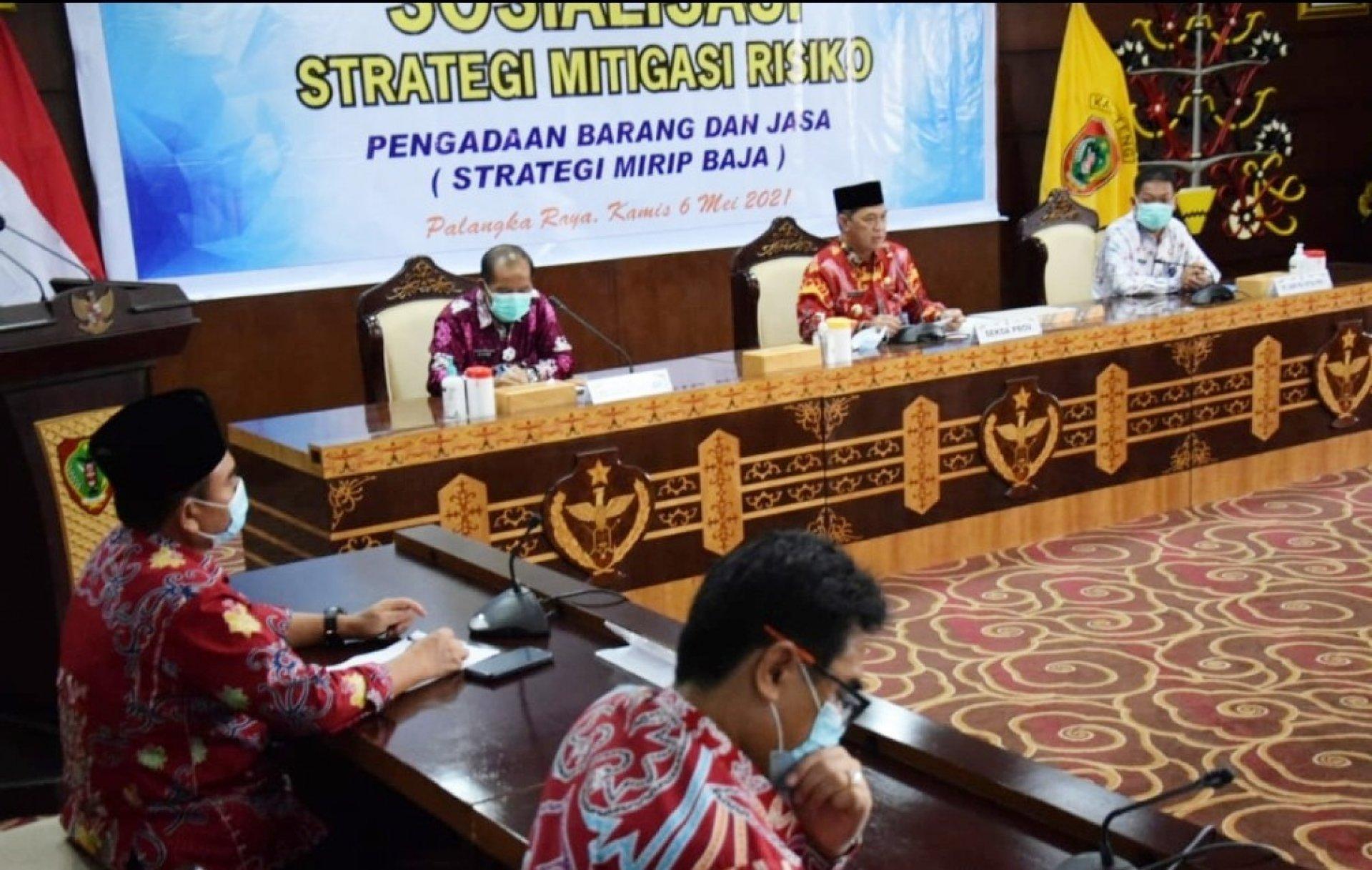 Sekda Kalteng Tekankan Pentingnya Strategi Mitigasi Risiko dalam Pengadaan Barang Jasa