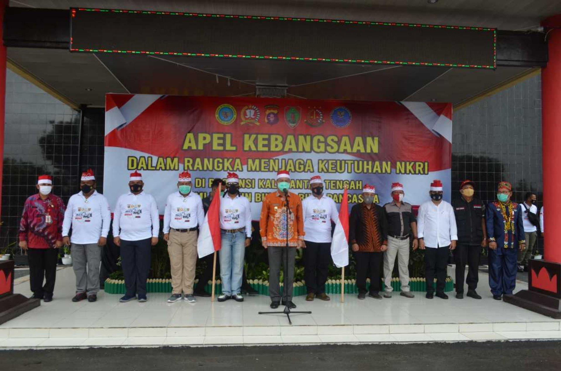 Sekda Fahrizal Fitri Pimpin Apel Kebangsaan dan Deklarasikan Jaga Kondusivitas Kalteng