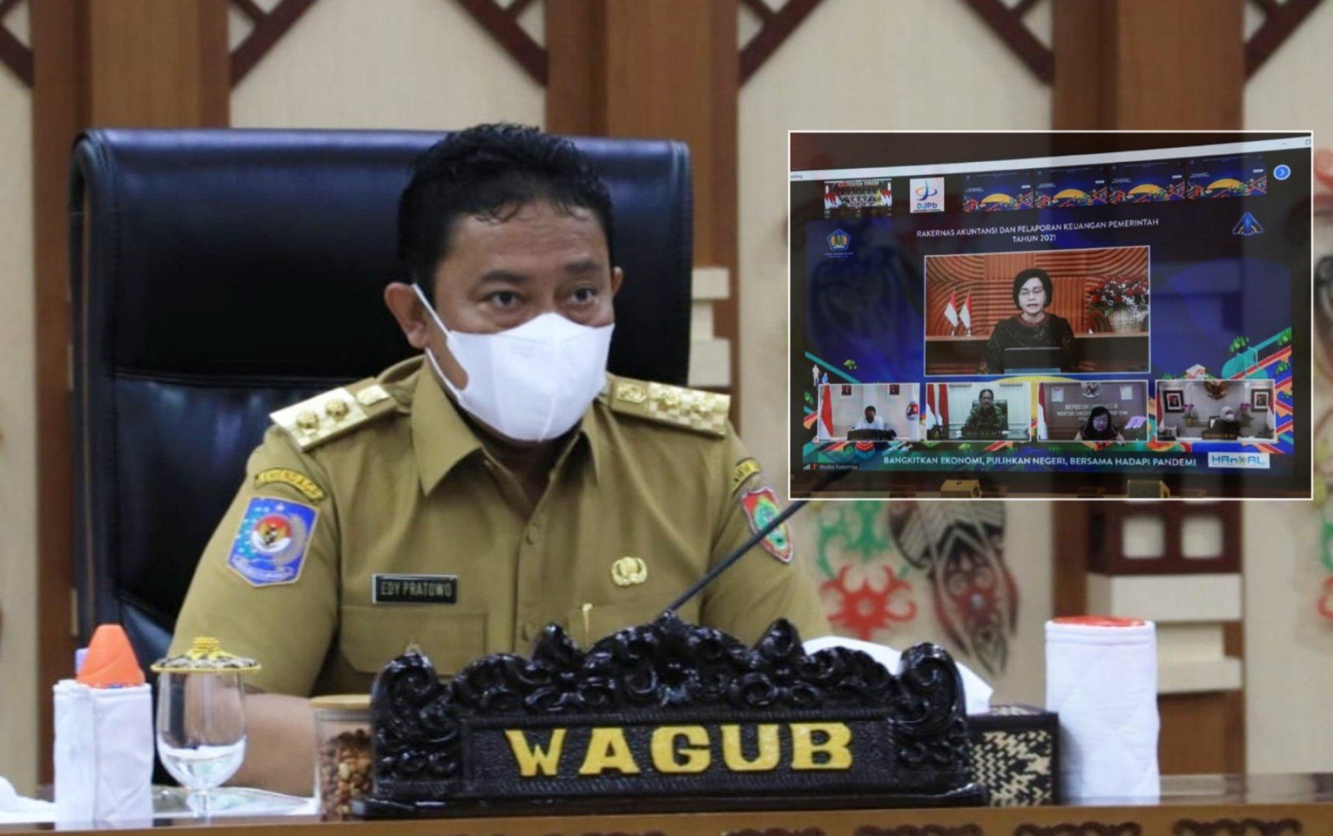Wakil Gubernur Kalimantan Tengah Hadiri Rakernas Akuntansi dan Pelaporan Keuangan Pemerintah Tahun 2021