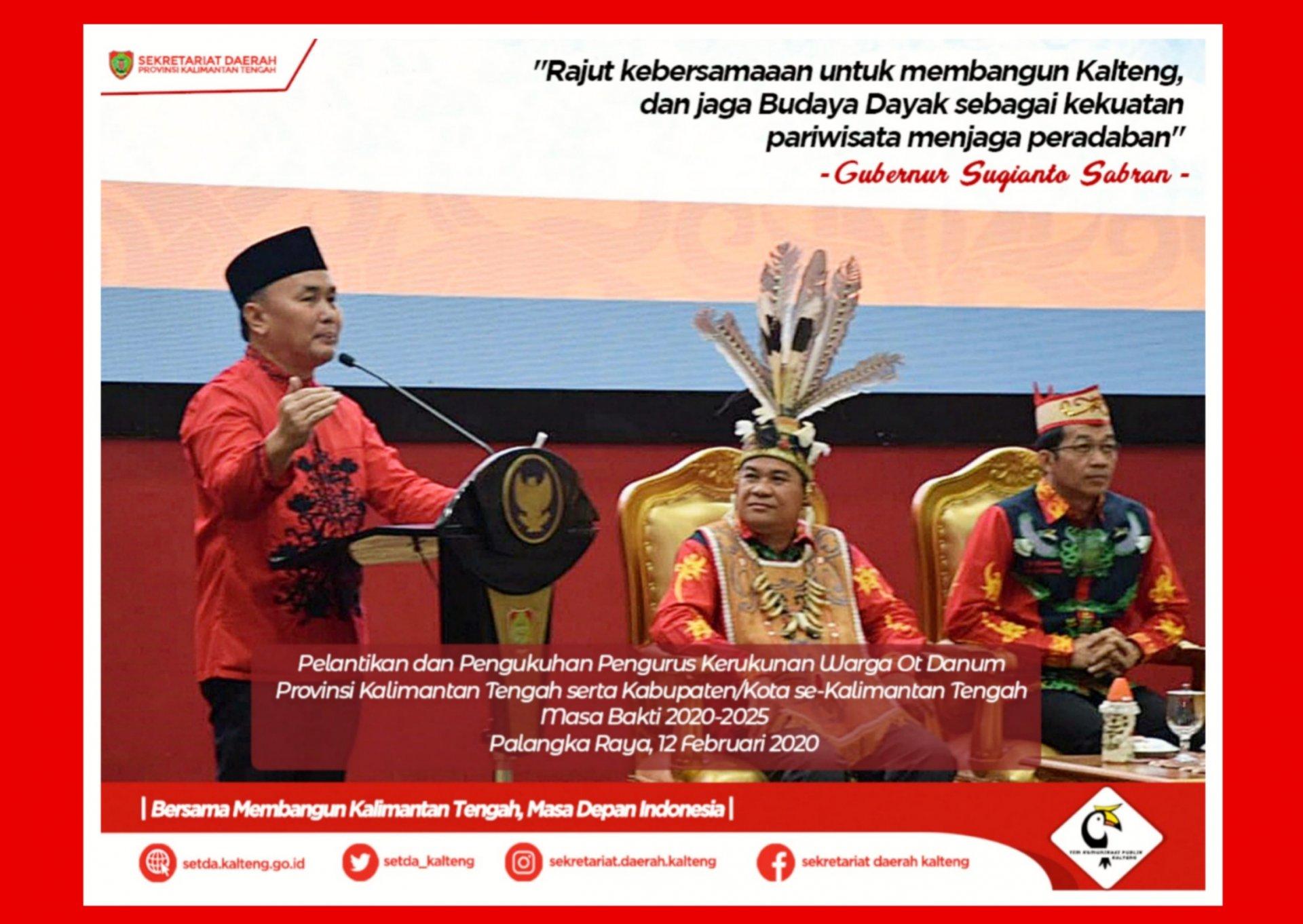 Rajut Kebersamaan Untuk Membangun Kalimantan Tengah