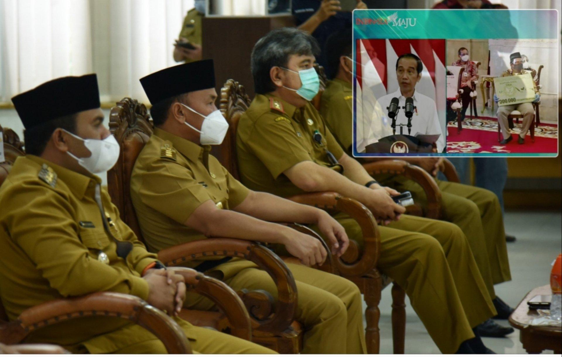 Gubernur Kalteng Hadiri Peluncuran Bantuan Tunai Se-Indonesia Tahun 2021 oleh Presiden Secara Virtual