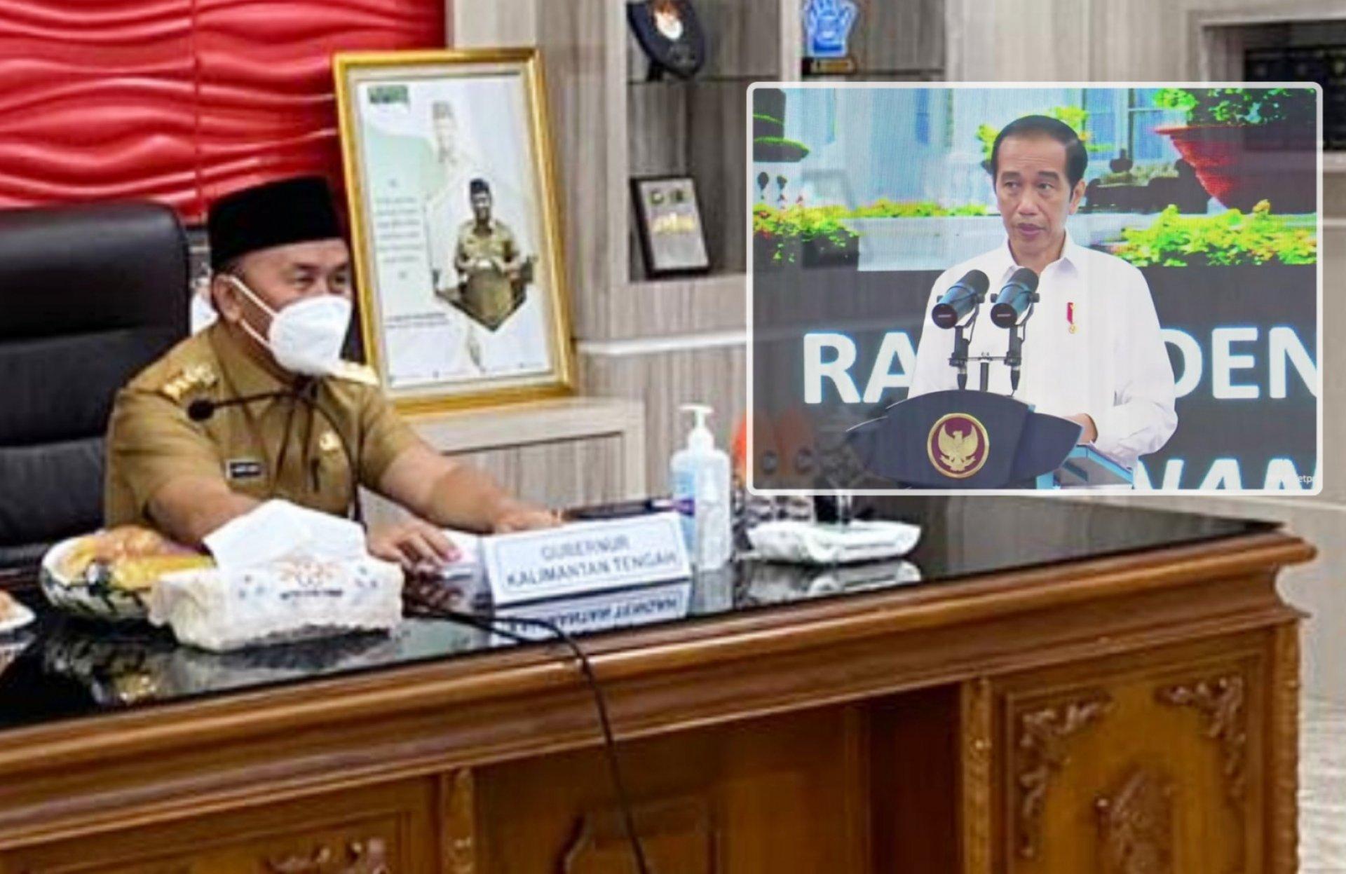 Gubernur Sugianto Sabran Ikuti Ratas Bersama Presiden Bahas Rencana Pelaksanaan Vaksinasi