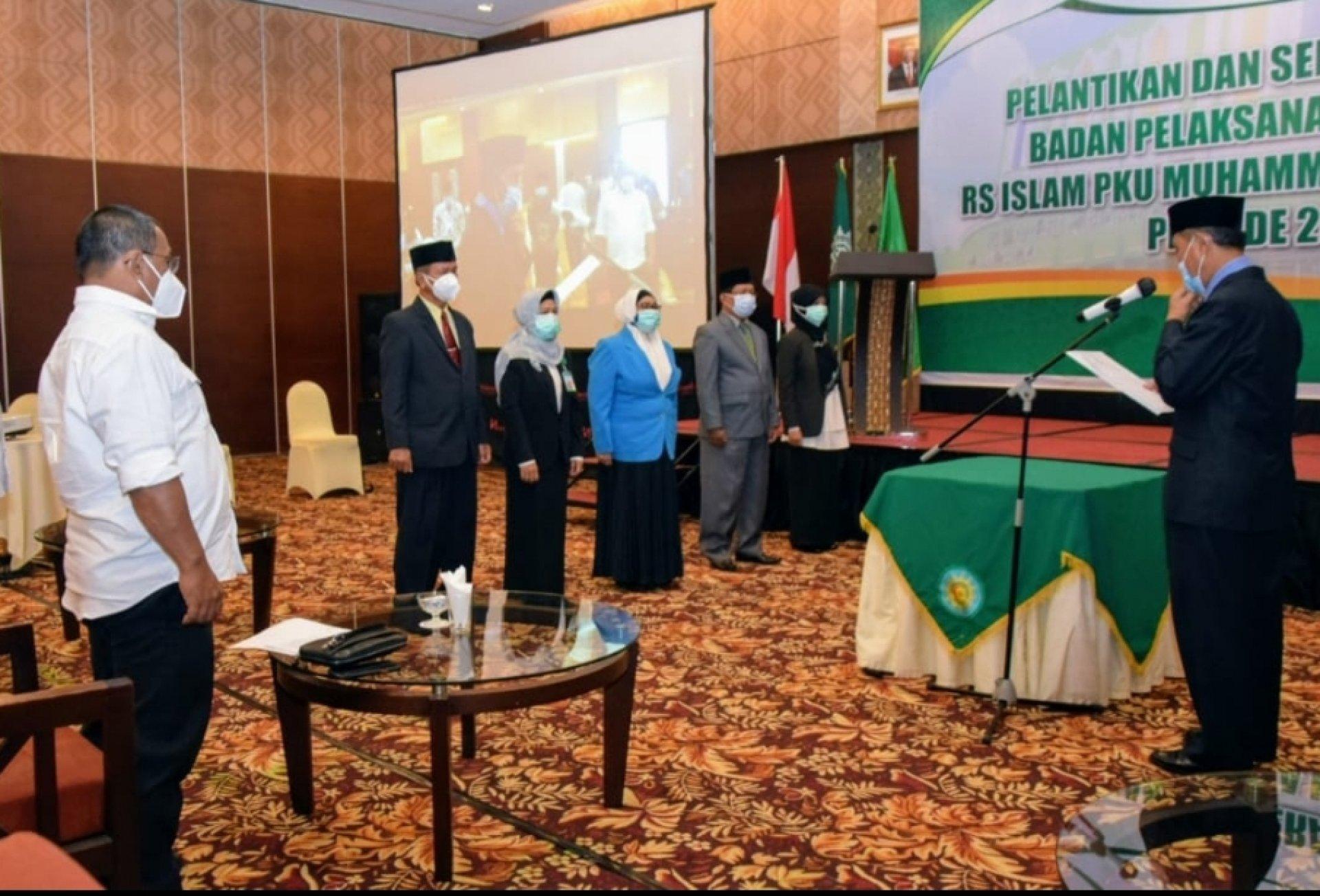 Wakil Gubernur Kalteng Hadiri Pelantikan Badan Pelaksana Harian dan Direksi RS PKU Muhammadiyah Palangka Raya