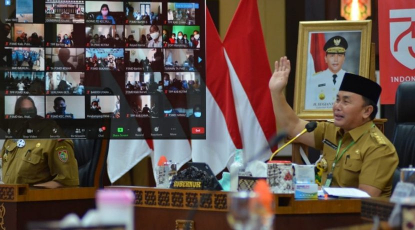 Dorong Kemajuan Desa, Gubernur Kalteng Gelar Rapat Koordinasi dengan Para Tenaga Pendamping P3MD Secara Daring